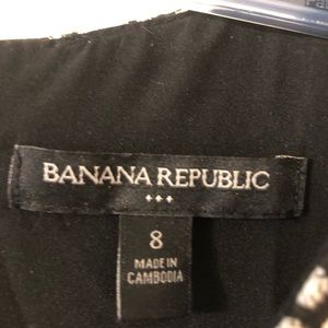 Banana Republic Dresses - Black and white fit and flare dress